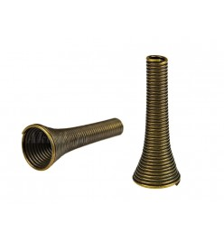 Koraliki metalowe przekładka flakon 8x24mm mosiądz