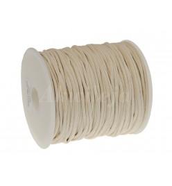 Sznur bawełniany woskowany 2mm ecru