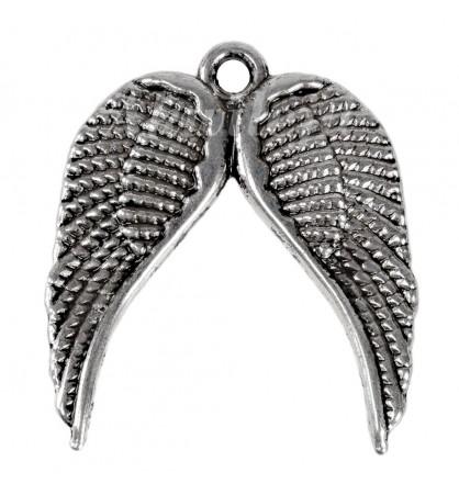 Zawieszka skrzydła anielskie 19x20mm platyna