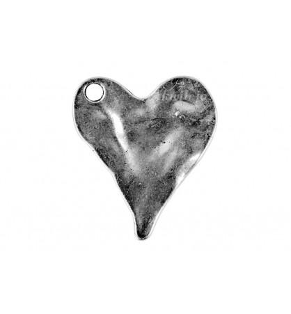 Zawieszka serce 30x35mm platyna