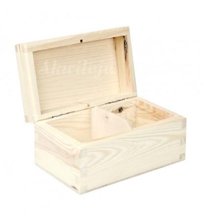 Herbaciarka pudełko na herbatę 2 przegródki bez zapięcia
