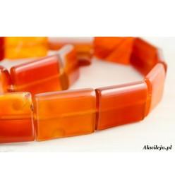 Sardonyks czerwony prostokąt 14x20mm