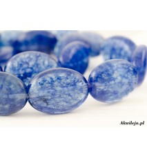 Kwarc mszysty niebieski owal 15x20mm