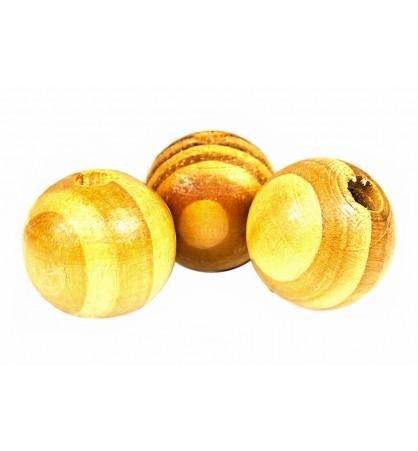 Drewniane koraliki kula 16mm bejca beż