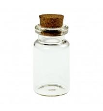 Buteleczka szklana 20x40mm z korkiem