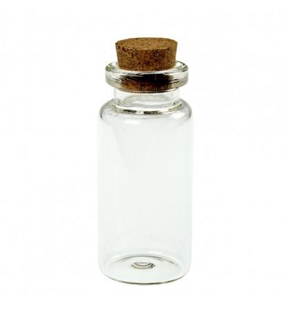 Buteleczka szklana 20x50mm z korkiem
