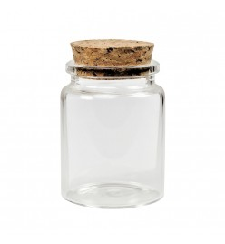 Buteleczka szklana 46x60mm z korkiem