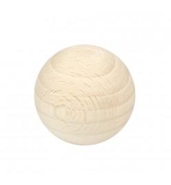 Drewniane koraliki kula surowe 35mm bez otworu
