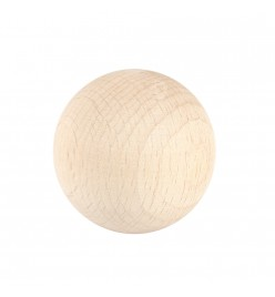 Drewniana kula surowa 40mm bez otworu