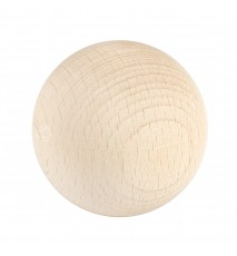 Drewniana kula surowa 50mm bez otworu