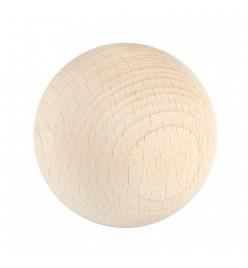 Drewniane koraliki kula surowe 50mm bez otworu