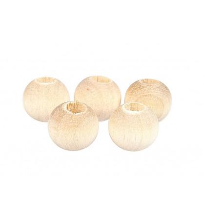 Drewniane koraliki kula naturalne 8mm
