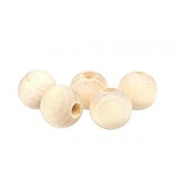 Drewniane koraliki kula naturalne 10mm