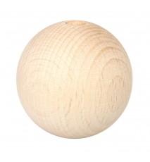 Drewniane koraliki kula surowe 50mm