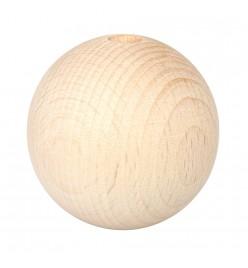 Drewniane koraliki kula naturalne 50mm
