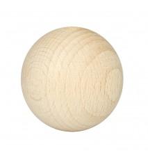Drewniane koraliki kula surowe 40mm