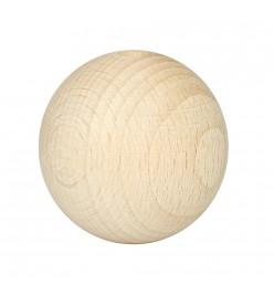 Drewniane koraliki kula naturalne 40mm