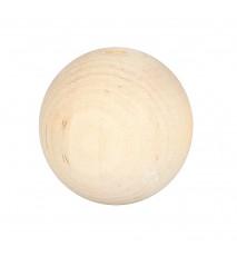 Drewniane koraliki kula surowe 35mm