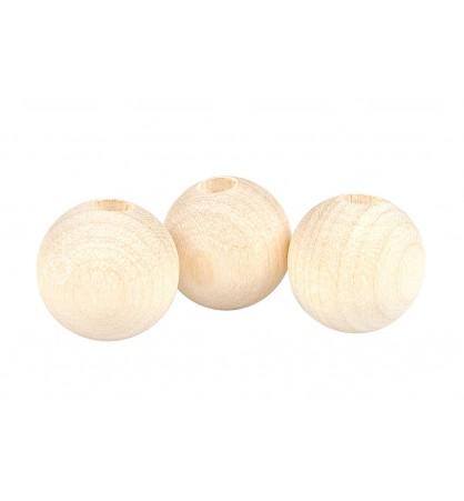 Drewniane koraliki kula naturalne 14mm