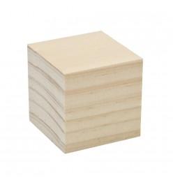 Kostka drewniana klocek surowe 44x44mm