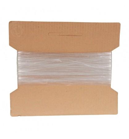 Żyłka gumka guma płaska elastyczna 4mm 20m transparent