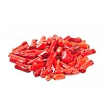 Koral sieczka 5-20mm czerwony 40szt. 12cm