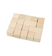 Kostka drewniana klocek surowe 15x15mm