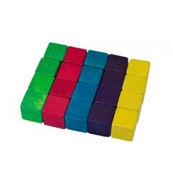 Kostka drewniana klocki kolorowe 15x15mm mix