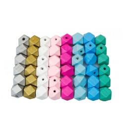 Drewniane koraliki hexagon 15x20mm