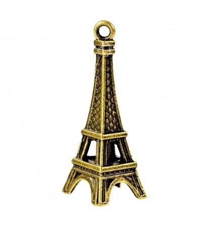 Zawieszka Paryż 3D Wieża Eiffla 10x25mm mosiądz