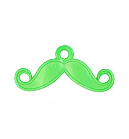 Zawieszka łącznik wąsy 14x28mm zielony jasny