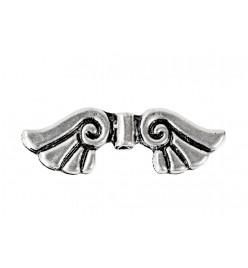 Przekładka łącznik skrzydła anielskie 10x35mm platyna