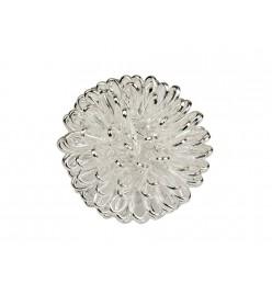 Koraliki metalowe z drutu kula 17mm srebrny