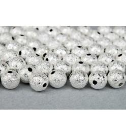 Kula diamentowa szroniona 6mm srebrny