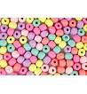 Drewniane koraliki kula 8mm pastelowe