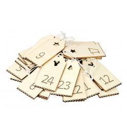 Kalendarz adwentowy drewniany 24 elementy