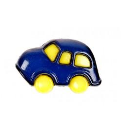 Guzik plastikowy auto 18mm niebieski