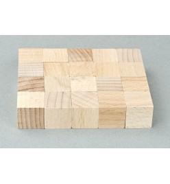 Kostka drewniana klocki surowe 15x15mm
