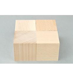 Kostka drewniana klocki surowe 40x40mm