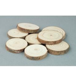 Drewniane plastry krążki 35-40mm 8szt.