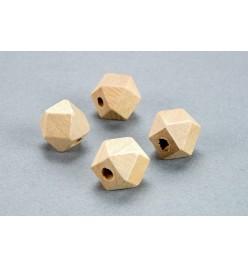 Drewniane koraliki heksagon surowe 12x12mm