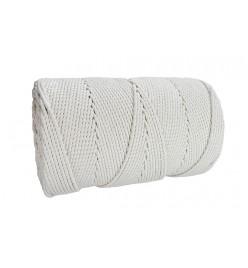 Linka do makram sznurek bawełniany biały 3mm 350m