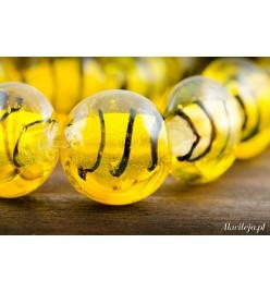 Szkło weneckie pastylka 12mm żółta