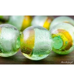 Szkło weneckie kula 18mm miód-pistacje