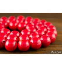 Koral czerwony błyszczący kula 10mm