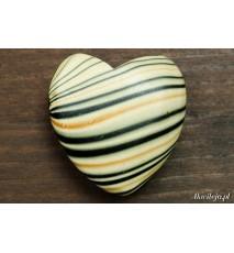 Drewniane koraliki zawieszka serce 35x35mm czarne