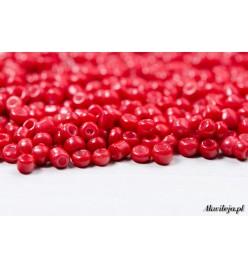 Rokail szklane drobne koraliki 2mm czerwony