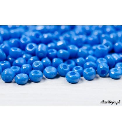 Rokail szklane drobne koraliki 3mm niebieski