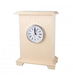 Zegar drewniany na nóżkach