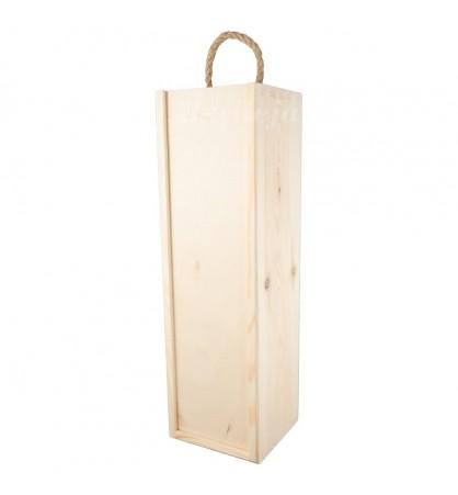 Pudełko skrzynka na wino zasuwane